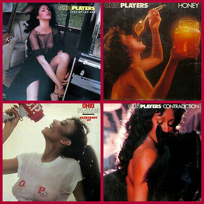 Lot~4 LP Records by OHIO PLAYERS~ Honey,Contradiction,Everybody Up,Jassay Laydee