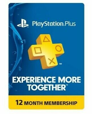 BRAND NEW Sony PlayStation Plus 1 Year Membership Subscription Card