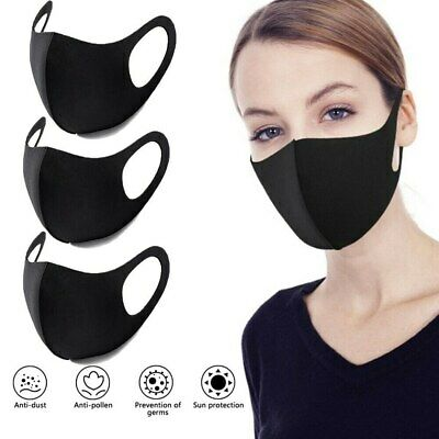 Pack of 3 Face Mask UK Reusable Washable Breathable Dust Allergies Pollution