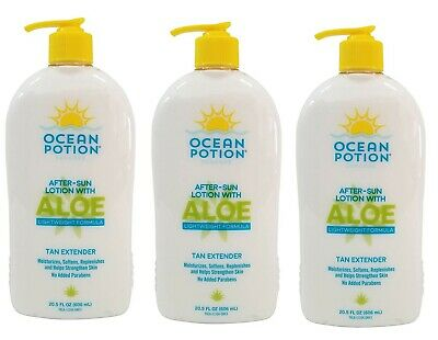 3x Ocean Potion After Sun Lotion with Aloe Tan Extender BPA FREE.