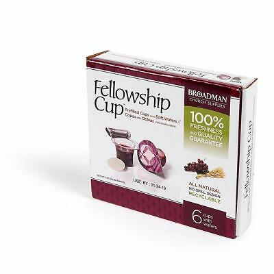 Communion-Fellowship Cup Prefilled Juice/Wafer (Box Of 6)