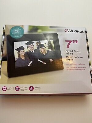 """Aluratek ADPFWM7S  7"""" Digital Picture Frame with auto slideshow feature"""