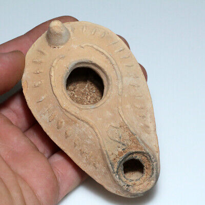 Byzantine Era-Holy Land-Near East Terracotta Oil Lamp Circa 500-700 Ad