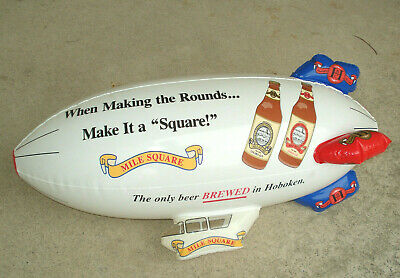 MILE SQUARE HOBOKEN Inflatable Blimp Advertising Sign Display Club VTG Bar 27""