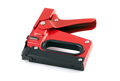HVAC Outward Clinch Heavy Duty Stapler Red Staple Gun Ductwork Insulation Tacker