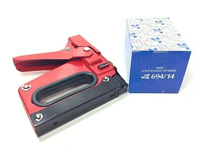 Outward Clinch Heavy Duty Red G-5 Stapler Insulation Tacker + 5,000 Staples