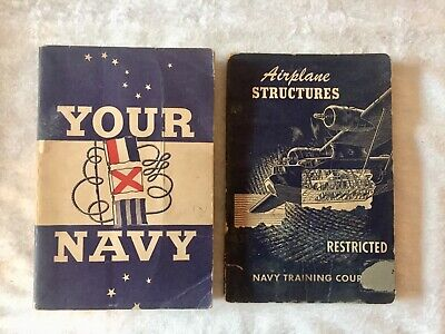 Vintage 1940's US Navy Training Courses ~ YOUR NAVY, AIRPLANE STRUCTURES