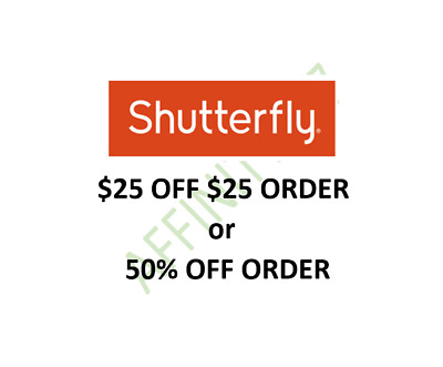 SHUTTERFLY $25 OFF or 50% OFF Coupon Code 6/30/20