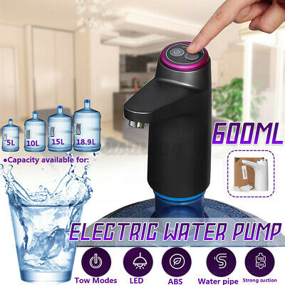 Electric Wireless Drinking Water Pump Bottle Dispenser Absorber USB Rechargeable