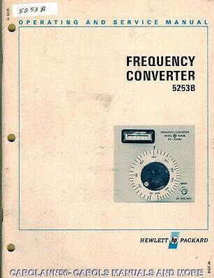 HP Manual 5253B FREQUENCY COUNTER