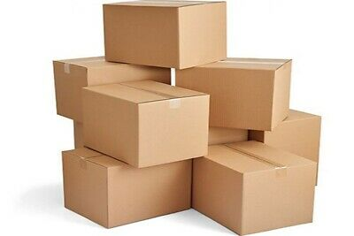 4x4x4 Corrugated Shipping Boxes - 100 Boxes - HIGH QUALITY - 2 DAYS SHIPPING