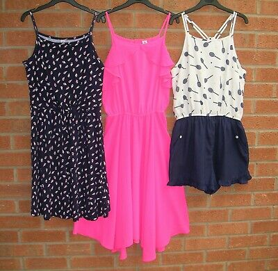 MARKS & SPENCER TU Girls SUMMER Bundle Dresses Playsuit Age 12-13
