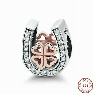 Pandora Charms Fine 925 Sterling Silver Lucky Horseshoe Beads Pendant Jewelry