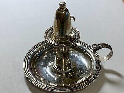 """Kingston sterling silver #328 convertible chamberstick table lighter 3.75"""" w"""