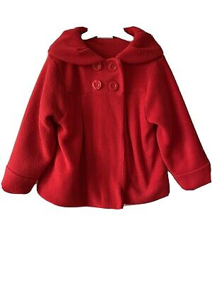 Next Girls Red Fleece Coat 4-5 Years