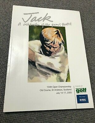Rare Jack Nicklaus 2005 St Andrews Open Championship Book - Harold Riley - Mint!