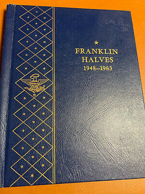 USED FRANKLIN HALF DOLLARS WHITMAN ALBUM - 1948 to 1963 - NO COINS - ALBUM #9425