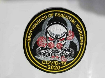BROTHERHOOD OF ESSENTIAL WORKERS CORONA 2020 Biker Patch 3.5 ""