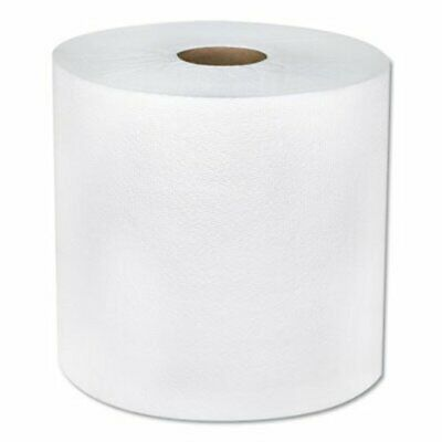 "Boardwalk TAD Hardwound Roll Towels, 1-Ply, 8""x600 ft, White, 6 Rolls (BWK6262)"
