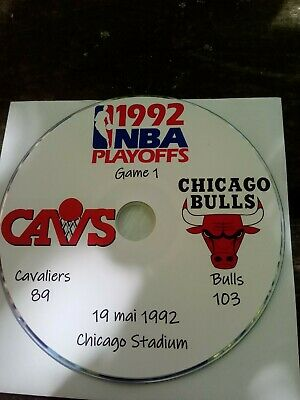 NBA Playoffs 1992 DVD Michael Jordan Bulls vs Cavaliers