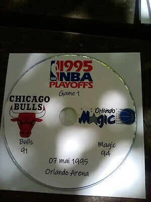 NBA Playoffs 1995 DVD Michael Jordan Bulls vs Magic