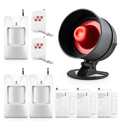 Indoor And Outdoor Wireless Alarm Horn Remote Control Door Contact Sensor Kit