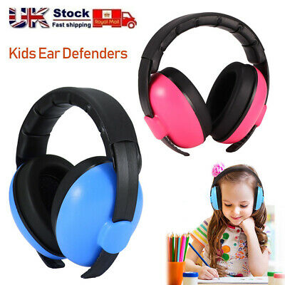 UK Ear Defenders Kids Toddlers Hearing Protection Autism Noise Reduction Earmuff
