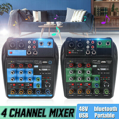 4 Channel Professional Audio Mixing Console USB bluetooth Music Stereo Mixer