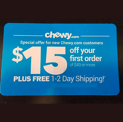 ➡️ FASTEST CODE! CHEWY—$15 OFF FIRST Order of $49—chewy.com—Exp. 6/30/20