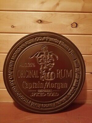 Captain Morgan carved big sign Rum 20in