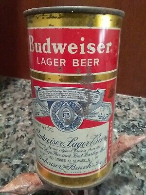 Vintage Beer Can    Budweiser Lager    12oz Steel    Opened From Bottom   (bc23)