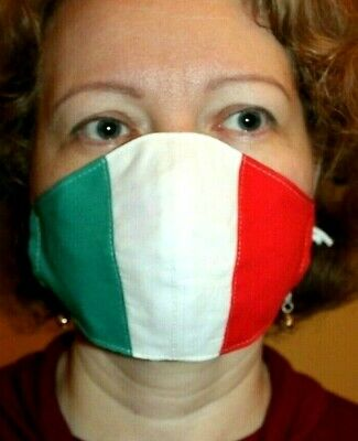 Adult Face Covering Mouth Nose Protection Washable Reusable Breathable ITALY