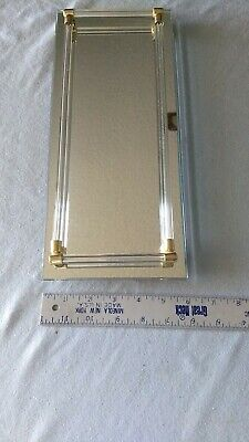 "Vintage Dresser Vanity Tray, Mirror Tray with  Glass Rails, 14"" x 6"" , 1950's"