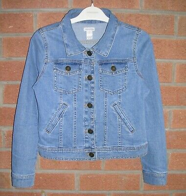 MONSOON Blue Denim Jacket Age 9-10 140cm Immaculate