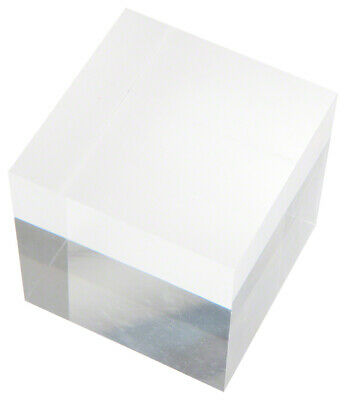 """Plymor Clear Polished Acrylic Square Display Block, 3"""" H x 3"""" W x 3"""" D"""