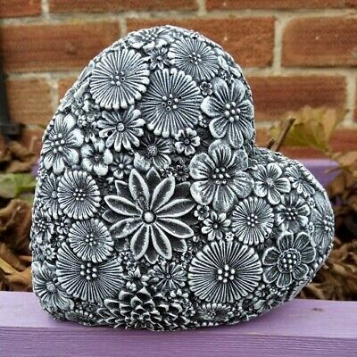 LOVE HEART- FLORAL -Highly Detailed Garden Ornament