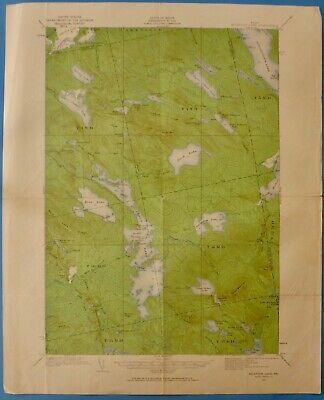 Nicatous Lake, Maine,  Vintage USGS Topographic Map, 1932