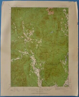 North Conway, New Hampshire, Vintage USGS Topographic Map,