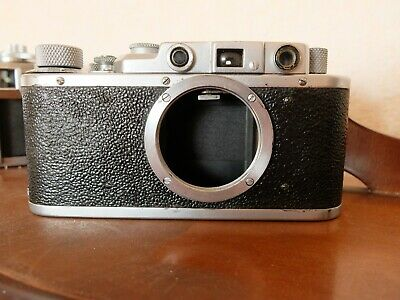 Zorki 1 rangefinder camera like Leica LTM - new curtains inside