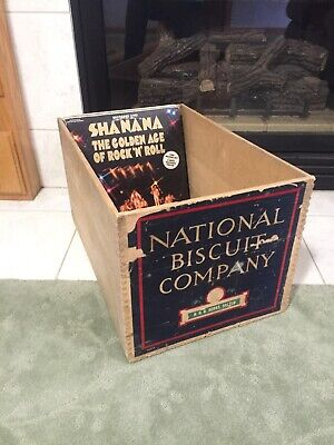 Antique NATIONAL BISCUIT CO. Box Wood Crate FITS ALBUMS Vtg