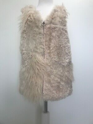 Good Condition Zara Faux Fur Panelled Gilet Waistcoat.age 11/12