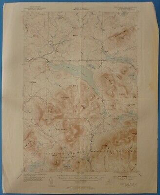 First Roach Pond, Maine, Vintage USGS Topographic Map, 1952