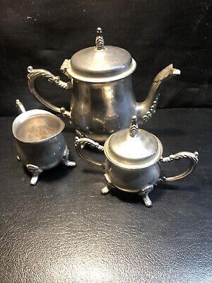 Vintage International Silver Company Silver Plated 3-Piece Tea/Coffee Set China