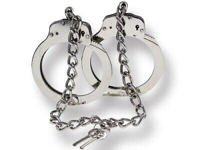 Real Legcuffs Double Lock Nickel Plated Steel Lc222Sl