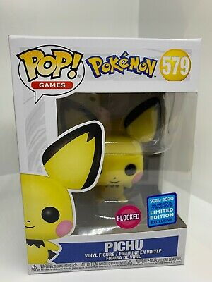 **IN HAND** Funko Pop! WONDERCON EXCLUSIVE Games Pokemon FLOCKED Pichu #579