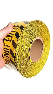 """3"""" x 1000 ft. Yellow Barricade Safety Tape, """"/// CAUTION FIRE DEPARTMENT  ///"""""""