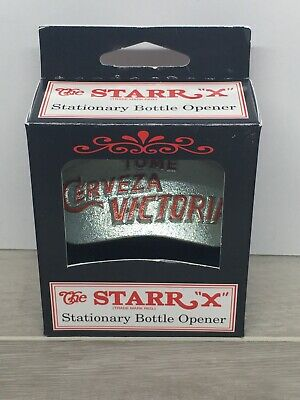 NIB TOME CERVEZA VICTORIA Starr X Wall Mount Bottle Opener Beer Man Cave Bar