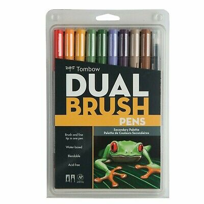 Tombow Dual Brush Pen Art Markers - Secondary Palette 10-Pack