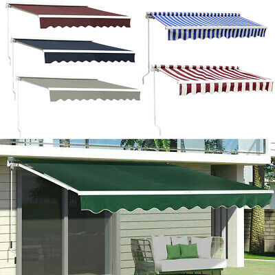 Retractable Design Easy Manual Awning Garden Canopy Sun Shade Cafe Shop Shelter
