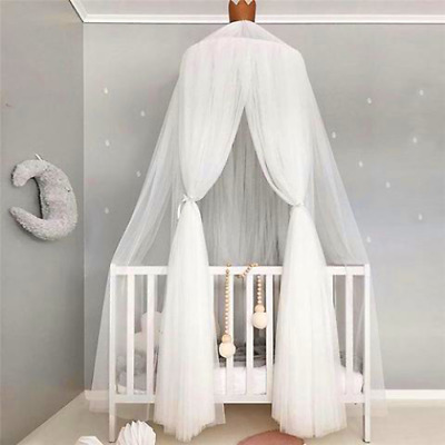 Bed canopy mosquito net CROWN white